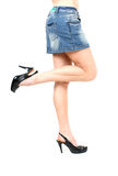 Prostitute in short skirt Stock Image
