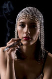 Prostitute smoking Stock Image
