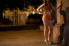 Prostitute waiting for somebody Stock Photos