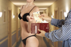 Prostitution concept Royalty Free Stock Image