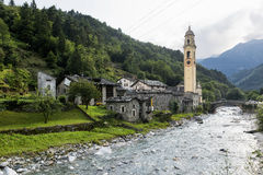 Prosto (Valchiavenna, Italy): old village Royalty Free Stock Images