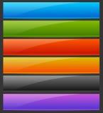 Prostokąta jaskrawy, kolorowy guzik horyzontalny, sztandarów tła ilustracji