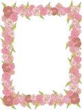 Prostokątna rama delikatne róże, poślubia Fotografia Royalty Free