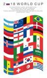 Prostokątne flaga 2018 pucharów świata kraje