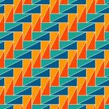 Prostokątni łączy bloki tapetowi Bezszwowy powierzchnia wzoru projekt z częstotliwymi trójbokami Geometryczny motyw royalty ilustracja