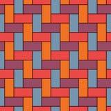 Prostokątni łączy bloki tapetowi wszystkie tło mój swój parkietowe tekstury Bezszwowy powierzchnia wzoru projekt z częstotliwymi  royalty ilustracja