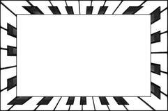 Prostokątni ramowi fortepianowi klawiaturowi klucze czarny i biały Klasyczny fortepianowej klawiatury ramy abstrakta tło W? redib Obrazy Royalty Free