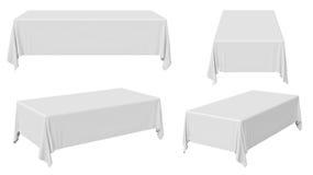 Prostokątny tablecloth set ilustracji