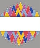 Prostokąta sztandar na abstrakcjonistycznym trójboka tle Fotografia Royalty Free