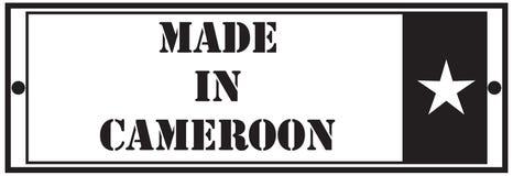 Prostokątny znaczek Robić w Cameroon Zdjęcie Royalty Free