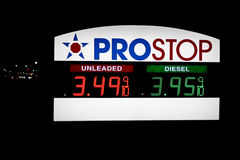 Prostop fuel prices, May 2012 Stock Photography