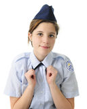 Prostować Jej krawat Fotografia Stock