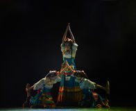 Prostrate oneself in worship-Ge Sanghua of Lhasa-The national folk dance Stock Photos