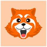 Prosty śliczny czerwonej pandy wektor ilustracja wektor