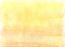 Prosty żółty akwareli tło Obrazy Royalty Free