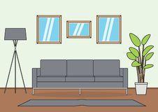 Prosty Żywy izbowy wektor ilustracja wektor