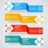 Prosty abstrakcjonistyczny infographics opcj sztandar Zdjęcie Royalty Free