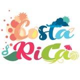 Prosty abstrakcjonistyczny projekt na Costa Rica typografii w wektorowym formacie ilustracja wektor