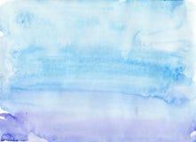 Prosty błękitny akwareli tło Zdjęcia Royalty Free