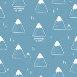 Prosty bezszwowy wzór z górami Zdjęcie Royalty Free
