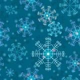 Prosty bezszwowy wzór z płatkami śniegu Zdjęcie Royalty Free