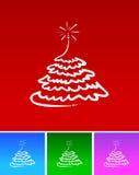 prosty Bożego Narodzenia drzewo Zdjęcie Royalty Free