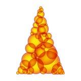 Prosty ciepły lub gorący xmas drzewo robić tworzy bąble Zdjęcia Stock