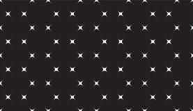 Prosty Czarny I Biały Bezszwowy wzór z gwiazdami Zdjęcia Royalty Free