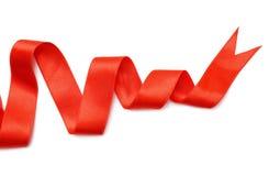 Prosty czerwony faborek na białym tle Fotografia Royalty Free