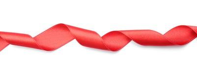 Prosty czerwony faborek na białym tle Zdjęcie Royalty Free