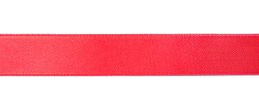 Prosty czerwony faborek na białym tle Obraz Stock