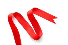 Prosty czerwony faborek na białym tle Obrazy Royalty Free