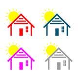 Prosty Domowy logo ilustracja wektor
