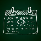 Prosty doodle kalendarz ilustracji