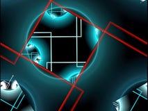 Prosty fractal tło - abstrakt cyfrowo wytwarzał wizerunek ilustracja wektor