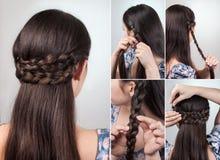 Prosty fryzury tutorial Zdjęcie Stock