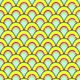 Prosty geometryczny kolorowy wzór Zdjęcia Royalty Free