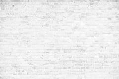 Prosty grungy biały ściana z cegieł jako bezszwowy deseniowy tekstury tło Zdjęcie Royalty Free