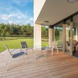 Prosty i elegancki patio zdjęcie royalty free