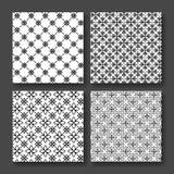 Prosty i pełen wdzięku kwiecisty deseniowy projekta szablon, Eleganckiego lineart czarny i biały projekt, ikony ilustracja Nowoży Zdjęcie Royalty Free
