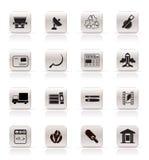 prosty ikona biznesowy przemysł Obraz Stock