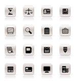 prosty ikony biznesowy biuro Zdjęcia Stock