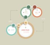 Prosty Infographics elementów projekta szablon może używać dla liczących sztandarów ciie out wykłada Grafika lub strona interneto ilustracja wektor