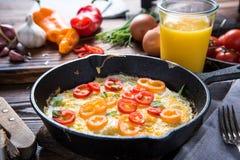 Prosty klasyczny śniadanio-lunch Zdjęcie Royalty Free