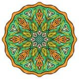 Prosty kolorowy abstrakcjonistyczny mandala royalty ilustracja