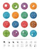 Prosty kreskowy styl: Graficzne interfejsu użytkownika elementu ikony ustawiają 3 - Wektorowa ilustracja Zdjęcia Stock