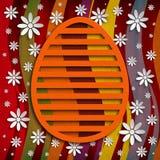 Prosty kształt Wielkanocny jajko na barwionym tle Zdjęcie Stock