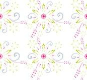 Prosty kwiecisty wzór Ilustracji