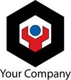 Prosty machinalny logo Zdjęcia Stock