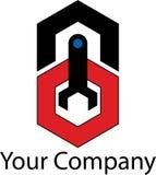 Prosty machinalny logo obraz stock